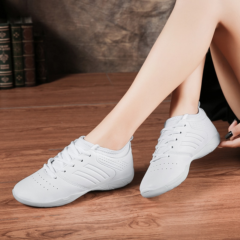 Lightweight White Profession Dance Shoes Women Low-heeled Beginner Gym Aerobics Sneakers Girls Ladie