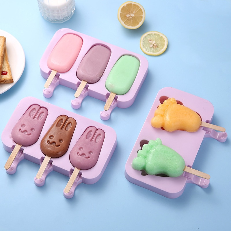 Silicone Ice Cream Mold Popsicle Molds with Lid DIY Homemade Ice Lolly Mold Ice Cream Popsicle Ice Pop Maker Mould недорого