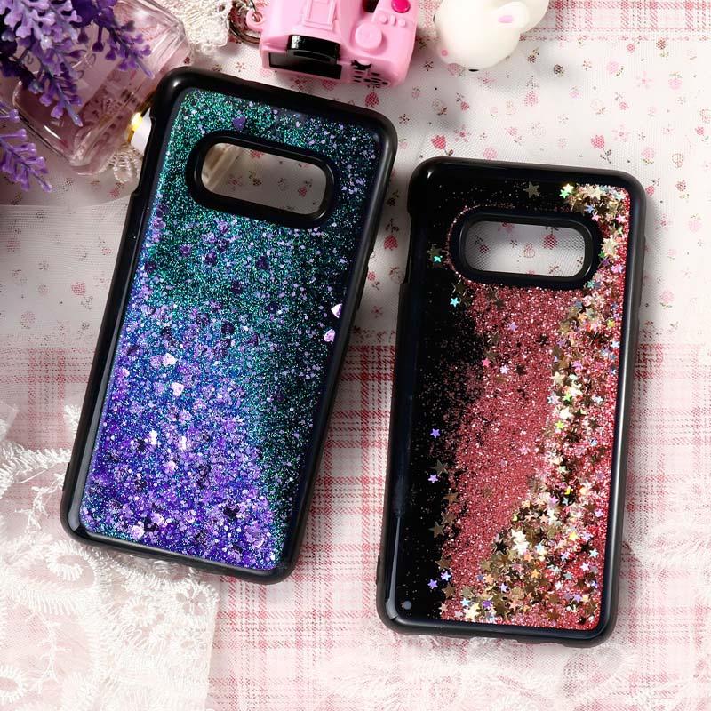 Quicksand Case For Samsung Galaxy S10 S10e A7 2015 J5 J7 Prime Note 8 9 S7 Edge S8 S9 Plus Case Silicone Soft Black Cover