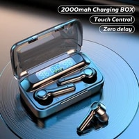 wireless headphones tws bluetooth 5 1 earphones 2000mah sports waterproof headsets hifi 9d bass stereo earbuds with microphones