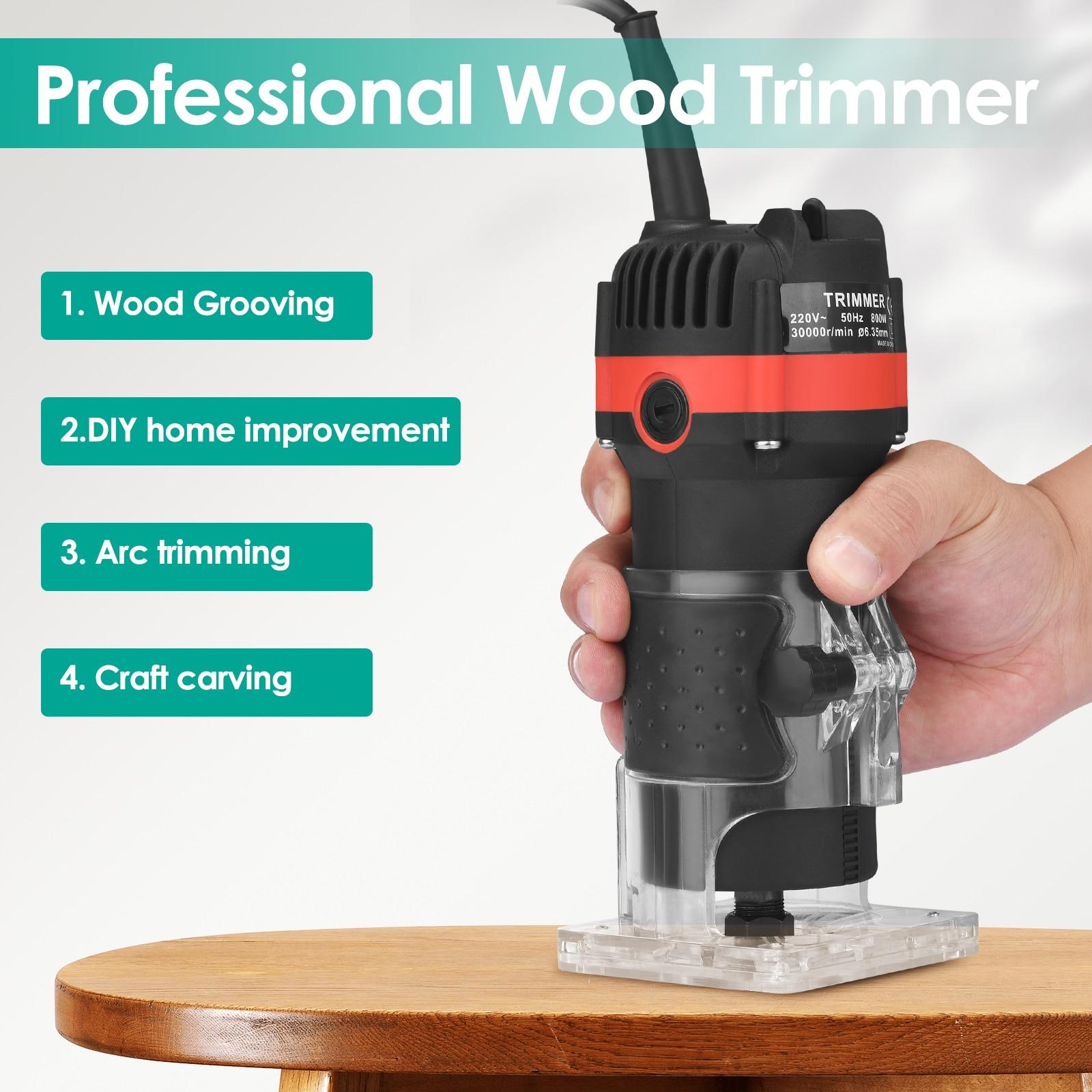 Электрический триммер для ламинирования кромок, деревообрабатывающий фрезерный станок, ламинатор для столярных работ, обрезка машина для ...