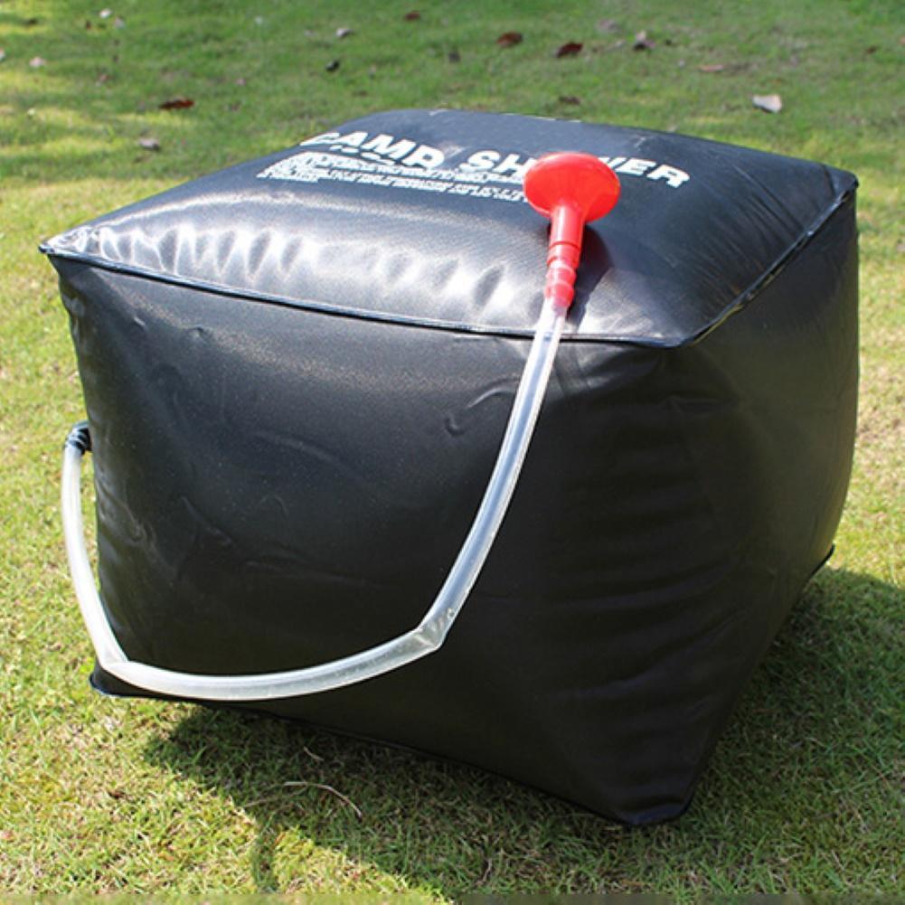 Bolsa de baño para ducha de agua caliente Solar portátil de 40L, bolsa de deporte de senderismo para acampar al aire libre