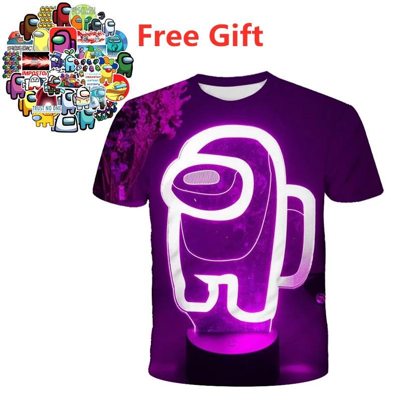 El más nuevo juego 3D entre nosotros camiseta estampada de moda de...