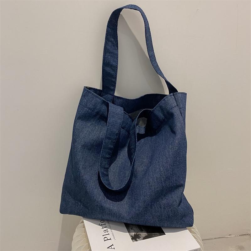 Demin Casual Tote Bags Women Handbag Bolsa De Mujer Designer Handbags High Quality Large Capacity Co