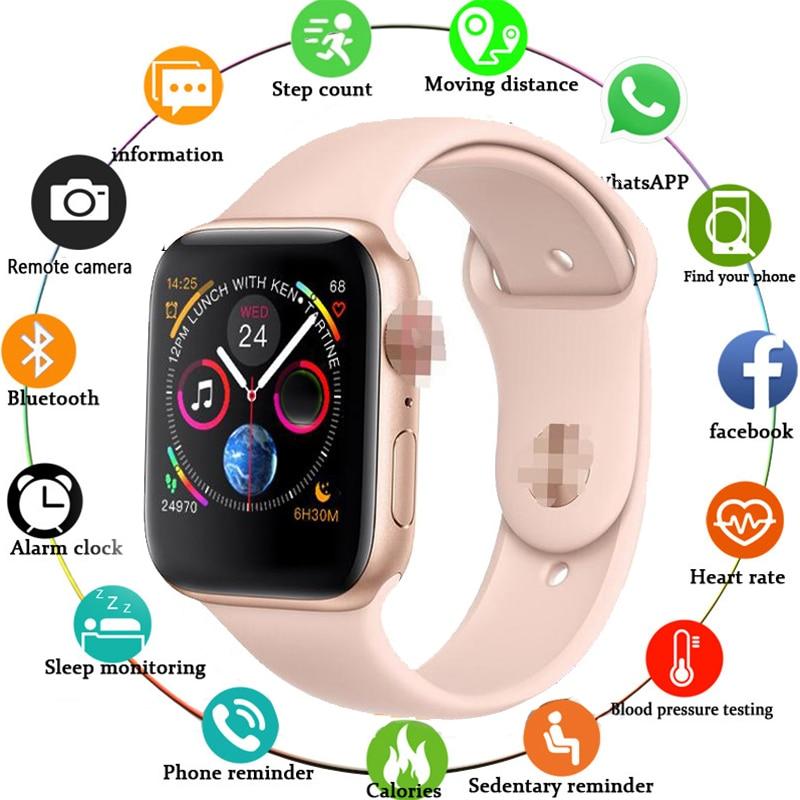 Relógio inteligente relógio digital série 4 siri pk iwo 8 mais w54 bluetooth smartwatch masculino para wei m u ng iphone telefone