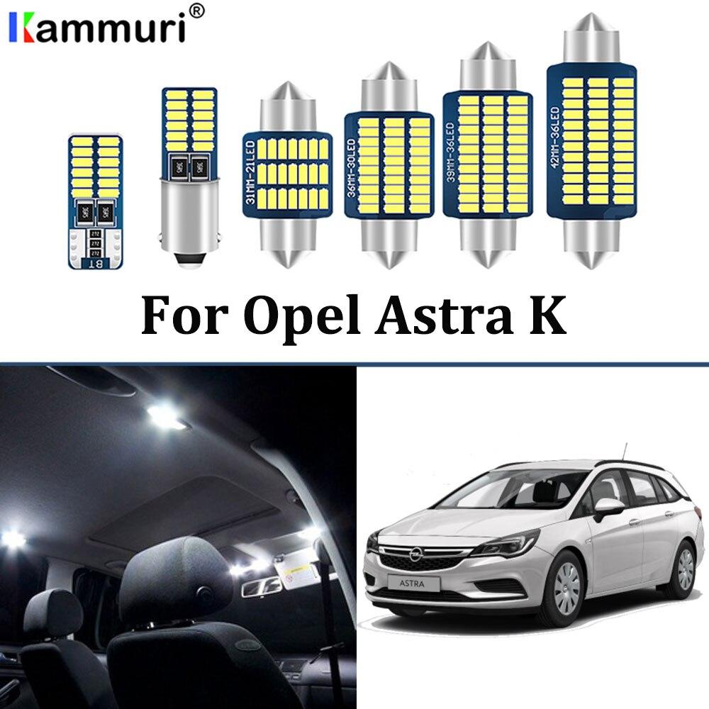 13 Uds. Sin errores blancos para Vauxhall accesorios para Opel Astra K OPC GTC LED Interior dome Maps Kit de bombillas (2015 +)