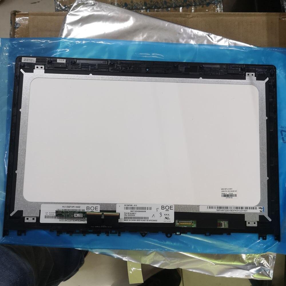 Pantalla táctil LCD pantalla panel digitalizador montaje con marco para lenovo Edge 2 15 Edge2-15 1580 80QF 80QF0004US 80QF0005US