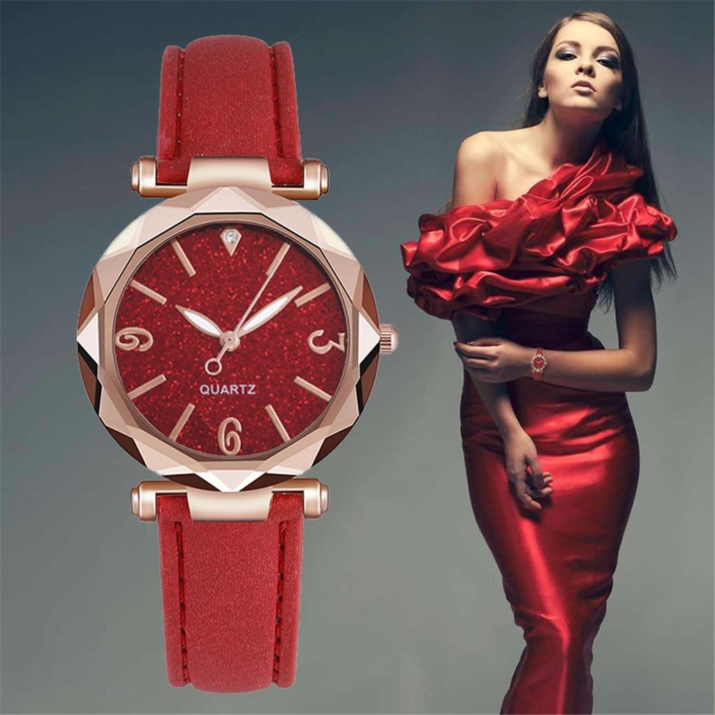 Luxury Diamond Irregular Dial Watches Woman Leather Strap Women's Quartz Watch Lover Watches Small W