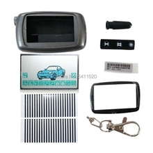 A9 Case Keychain Body Cover + A9 Lcd display flexible cable Zebra Stripes For Two Way Car Alarm Star