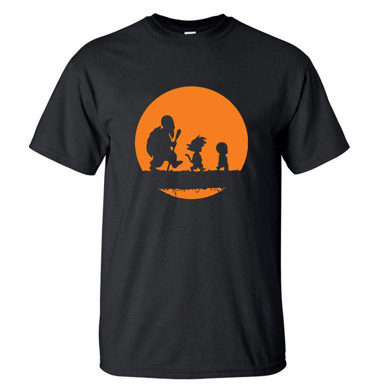 Camiseta de Dragon Ball para hombre Kuririn Japón, camiseta de Anime Vaporwave, camisetas de verano Master Roshi Gohan, camisetas de manga corta Harajuku