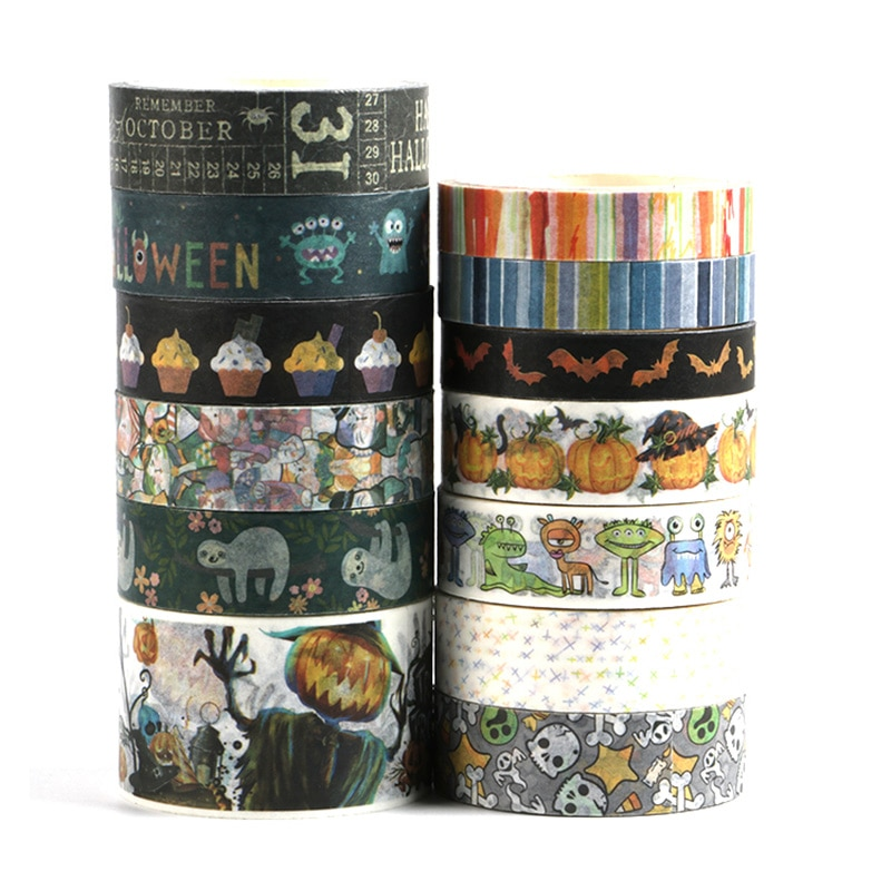NEW ghost, pumkin,tombs,monster halloween washi tape Adhesive  school supply