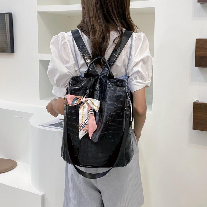 Модный женский рюкзак 2021, высококачественный рюкзак из искусственной кожи, Женский вместительный рюкзак, женский рюкзак с бантом для книг, ...