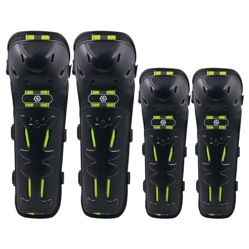 4PCS Motorcycle Knee Pads Elbow Leggings Motocross Cycling Night Reflective Safe Q39F enlarge