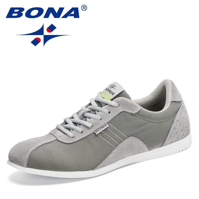 BONA-أحذية رياضية غير رسمية للرجال ، أحذية رياضية برباط ، خفيفة الوزن ، مريحة ، مسامية ، للمشي ، 2020