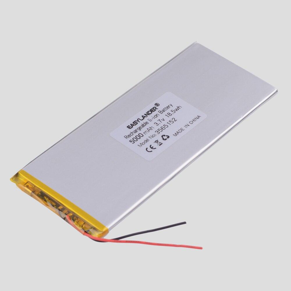 Литий-ионный полимерный литий-ионный аккумулятор 3,8 в, 3,7 в, 5000 мА/ч 3565152 для планшетных ПК, внешних аккумуляторов, электронных книг; Телефон ...