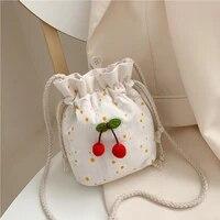 2021 cute wallet kawaii coin purse small daisy handbag women shopper bags fashion casual sweet cherry mini canvas crossbody bags