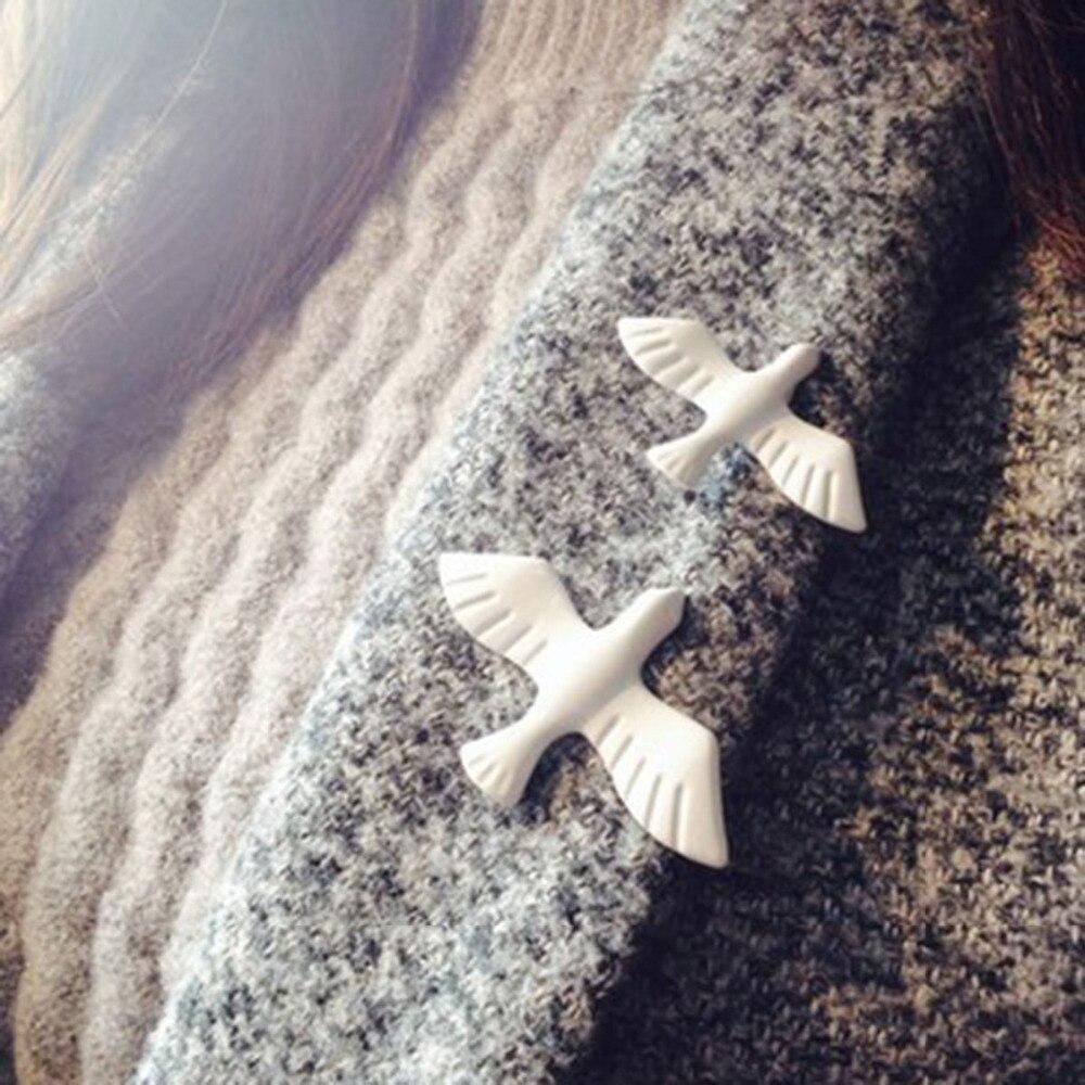 1 Pcs Metall Weiße Taube Brosche Broschen Für Frauen Pins Und Broschen Mode Brosche Emaille Pin Pins Großhandel