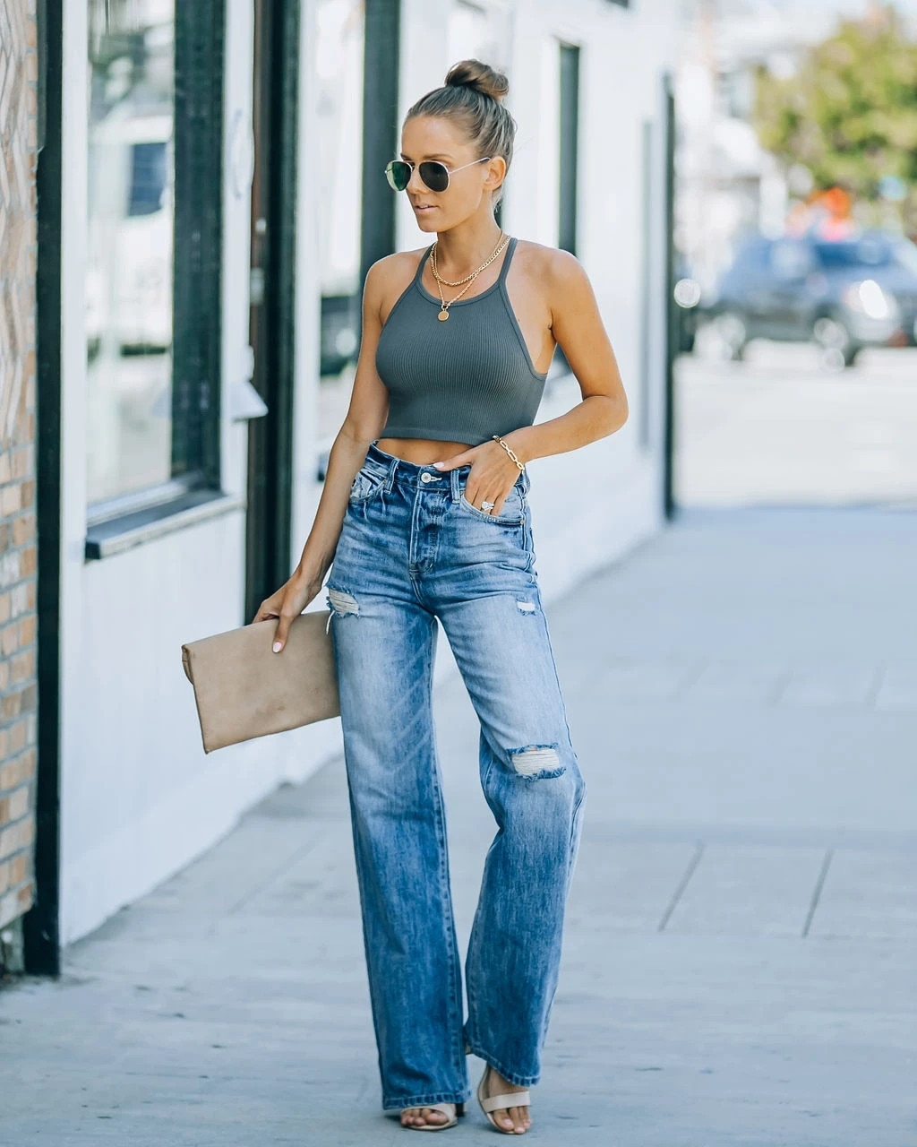 Повседневные широкие брюки, женские джинсовые брюки со средней талией, женские брюки, женские брюки, джинсы с высокой талией, женские брюки ...