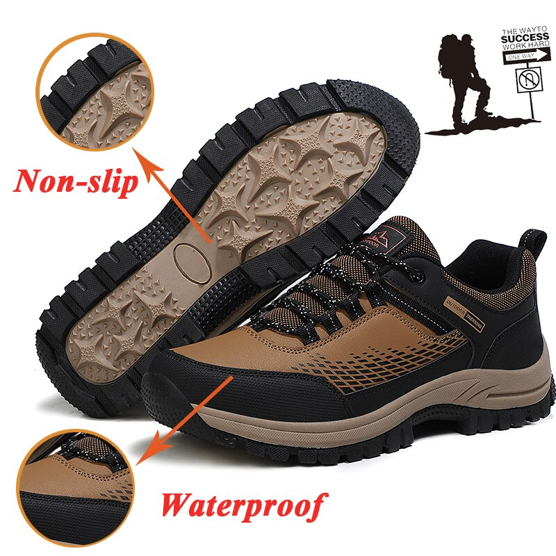High Quality steel toe Work shoes Safety boots Men's anti-smashing Safety shoes Waterproo Safety sho