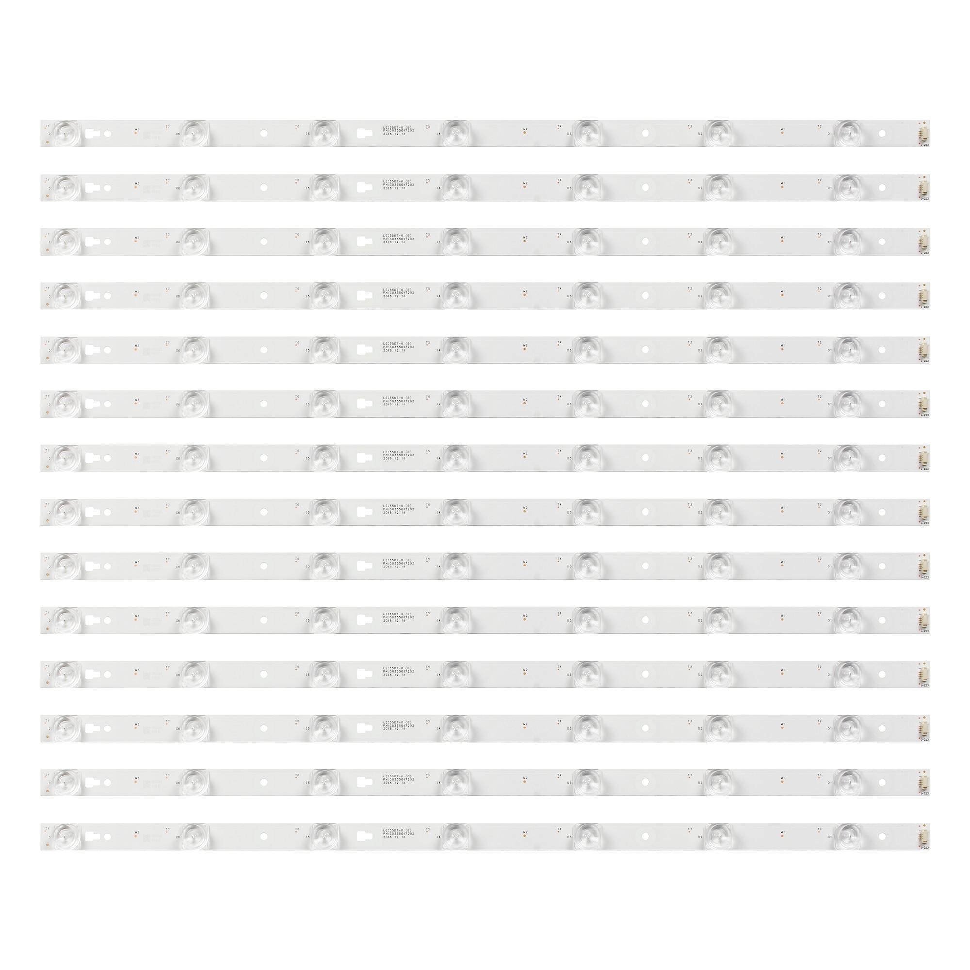 جديد كيت 14 قطعة 7LED 555 مللي متر LED الخلفية قطاع ل LED55D7-01 ab 30355007202 LE55A7100L LE55B510N LE55B510X LC550DUY SH A1