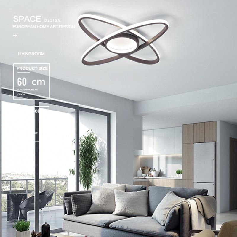 Geometric heteromorphism New arrival Modern Simplicity Ceiling Lights LED  For Living Room Bedroom Study Coffee color  Ceiling L enlarge