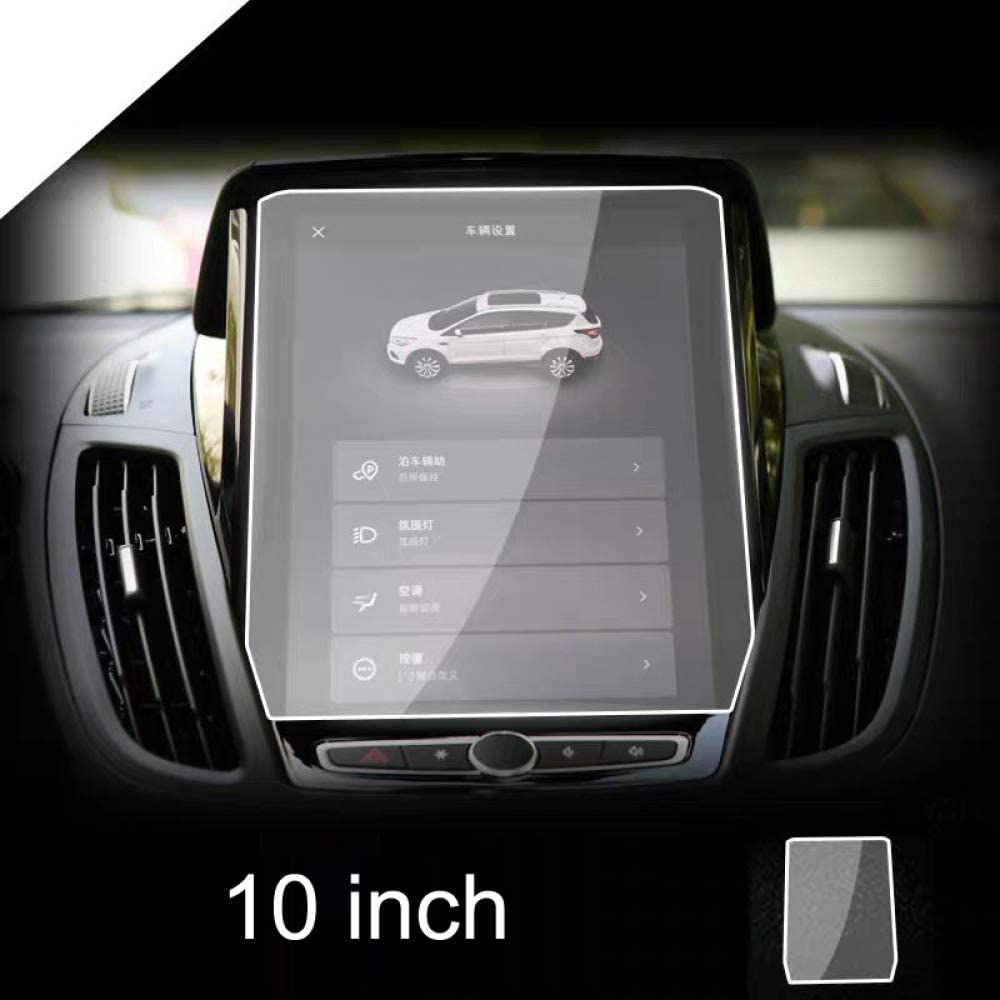 Fit for Ford Kuga 2019, 10 Inch Car Navigation Screen Protector, 9H Tempered Glass Display Transparent Protection