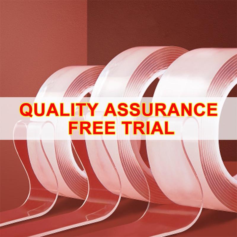Producto patentado, cinta Nano mágica de 3M/5M, cinta de doble cara, adhesivo extraíble y lavable, extraíble, de doble cara, acrílico A