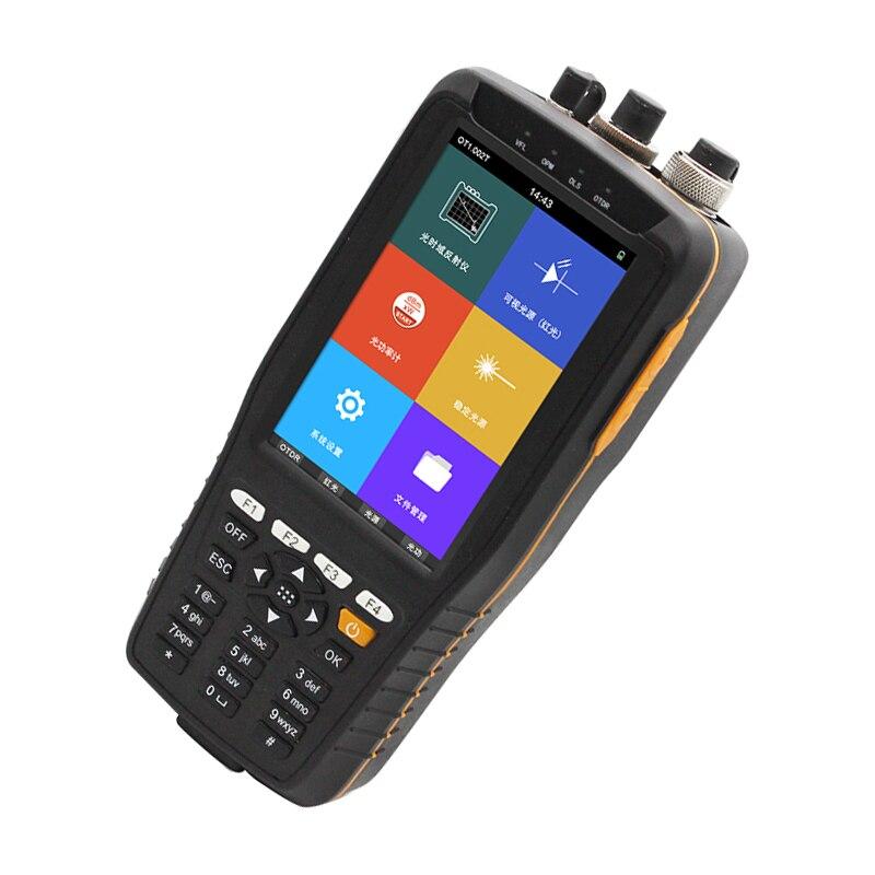 60KM Optical Time Domain Reflektometer OTDR 1310/1550nm mit Integrierte VFL/OPM/OLS/OTDR Touch bildschirm TM290 mini otdr