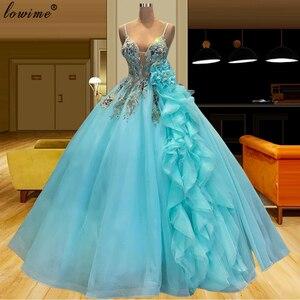 Небесно-голубые элегантные вечерние платья 2021, Длинные вечерние платья принцессы с кристаллами, пикантные платья на выпускной, пышные халаты