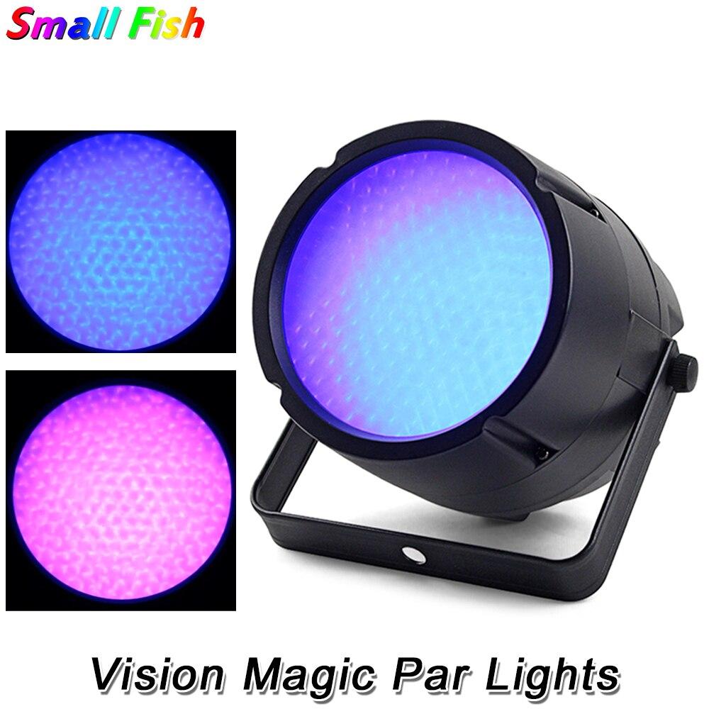 2 шт./лот Vision Magic Par Light 169 RGB 3 в 1 SMD 5050 LED DMX сценическое освещение эффект DMX512 Flat Par Light для диджея дискотевечерние