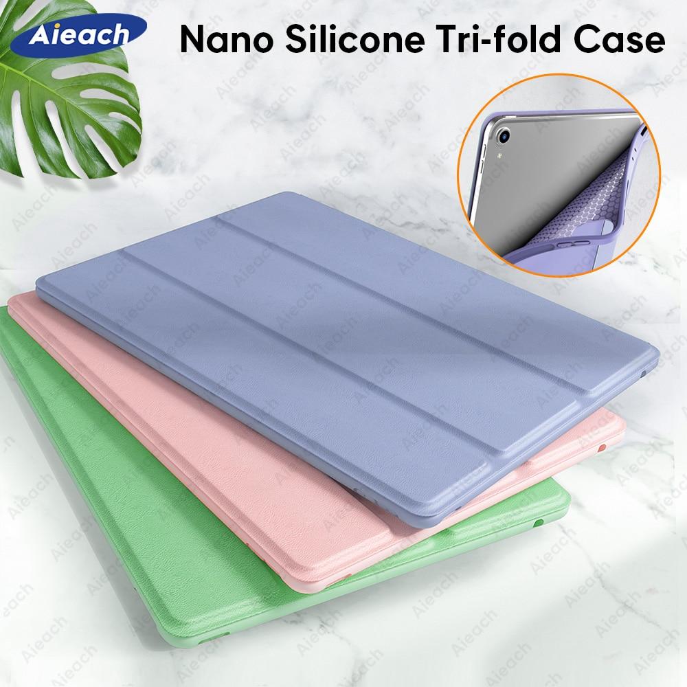PU Leather Silicone Case For iPad Air 4 3 2 1 Mini 5 Funda For iPad Pro 11 2020 2021 9.7 6th 5th 10.2 8th 7th Generation Case