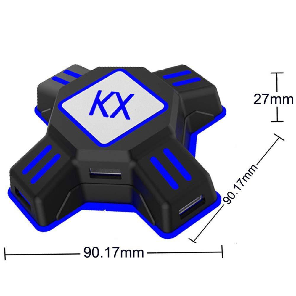 100pcs KX USB Game Controllers Adapter Converter Video Game Keyboard Mouse adapter Box for Switch/X-box/PS4/PS-3