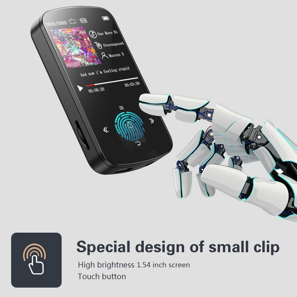New Mini Clip Bluetooth 5.0 MP3 Player Portable Music Lossless HiFi Sound Audio MP3 Players With FM Radio Pedometer Function enlarge