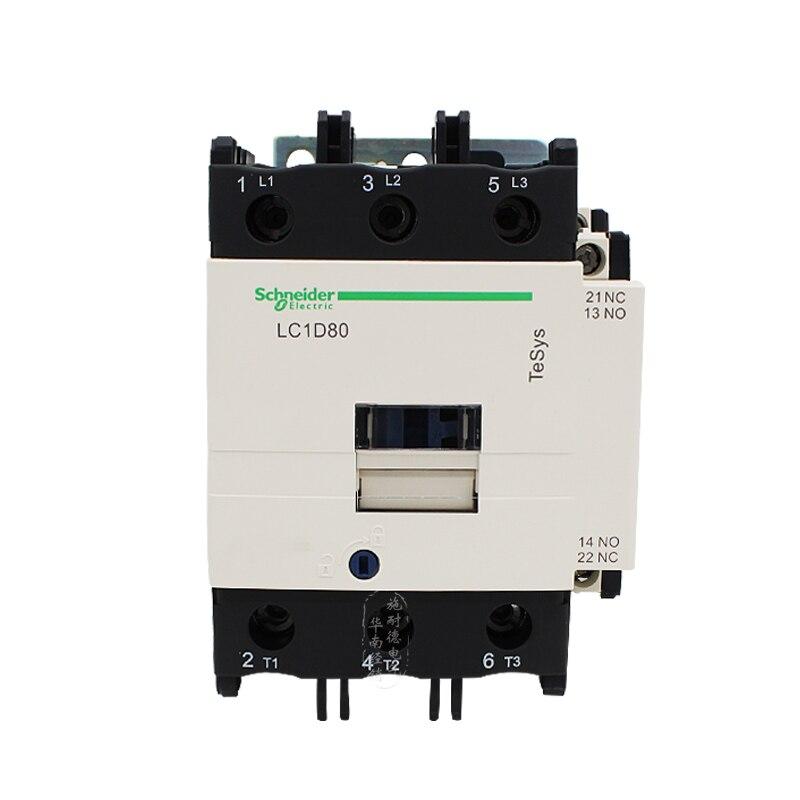 شنايدر AC قواطع LC1D80 80A B7C F7C M7C Q7C 24V 110V 220V 380V