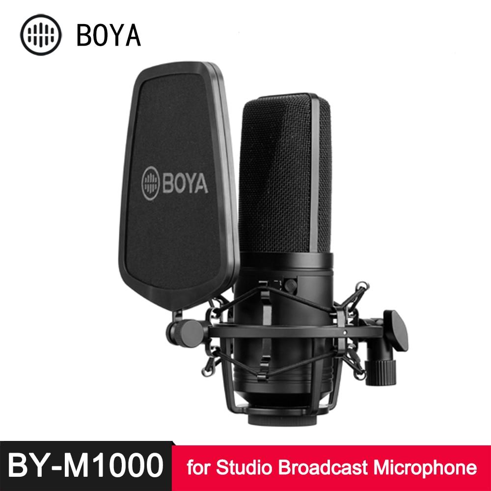 BOYA-ميكروفون مكثف غشائي كبير M800 M1000 ، مرشح منخفض القطع ، ميكروفون قلبي للبث المباشر ، ميكروفون فيديو Vlog