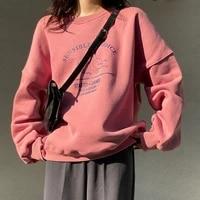 hoodies women thick plus velvet oversize cute printed leisure females casual harajuku sweatshirts loose bf street style chic new