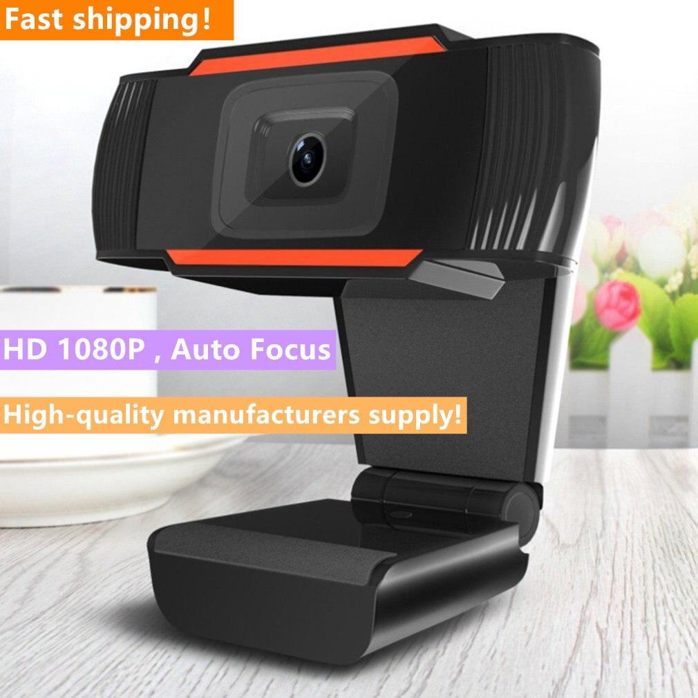 2020 nieuwe heißer koop 30 graden draaibare 2,0 hd webcam 1080 p usb kamera video-opname webkamera erfüllt microfoon voor pc computer