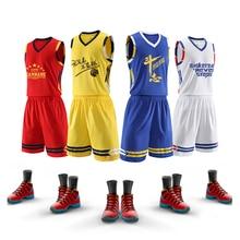 Traje de básquetbol de 5 colores 2020 chaleco deportivo de entrenamiento para estudiantes universitarios para hombres camiseta transpirable de secado rápido