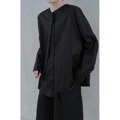New Dark صغيرة تصميم الأزياء نسخة من نمط مع طويلة الأكمام قميص مع التعادل