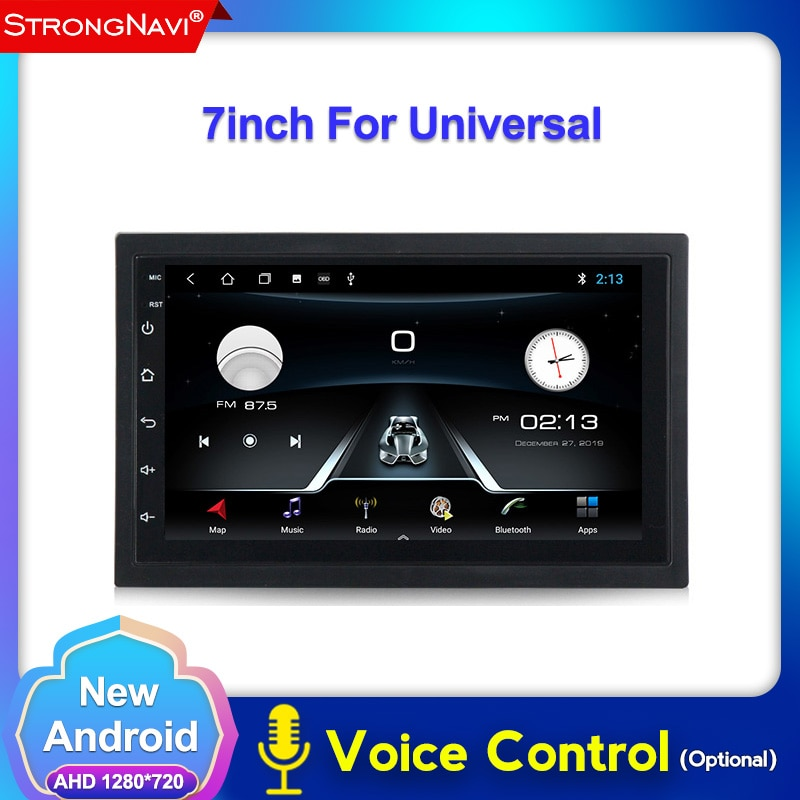 2 + 32G Android reproductor Multimedia para auto 2din universal para nissan Hyundai Kia Radio estéreo con navegación GPS Video (SIN DVD)