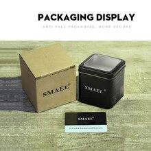 SMAEL Original Gift Box  for Sport Watches Mental Box Men Watch Accessory LED Digital Watch Box Prot