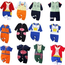 Anime Cosplay Baby Rompers Short/Long Sleeve Akatsuki Kakashi One Piece Luffy Soro Costume Jumpsuit