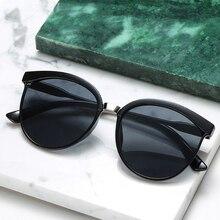 Vintage Black Sunglasses Women Cat Eye Sun Glasses For Women Color Lens Mirror Lady Sunglass Female
