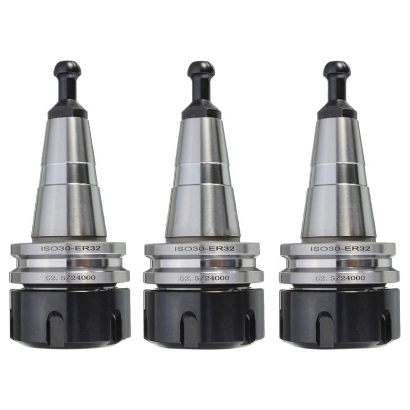 Nuevo 3 uds metal ISO30 ER32 50 portaherramientas G2.5 24000rpm CNC portaherramientas