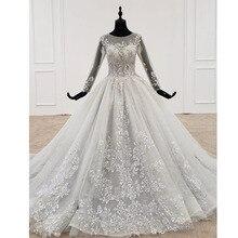 BGW 21810ht robe de soirée pour femmes à manches longues col rond Applique perles cristal Illusion robe arrière fête nouveau Sukienki wieczordois