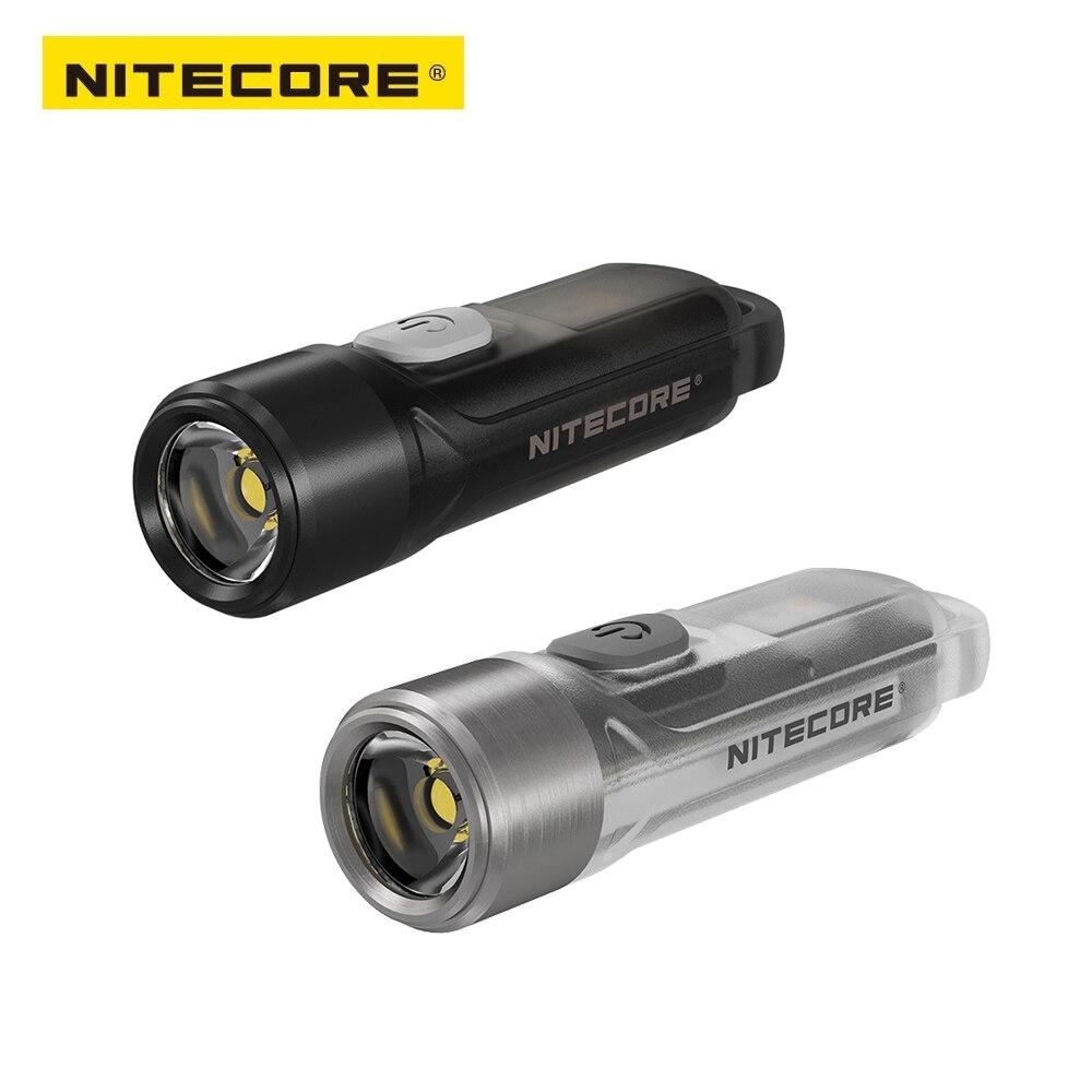 100% oryginalny NITECORE TIKI LE 300 lumenów MINI futurystyczny brelok do kluczy z latarką USB akumulator