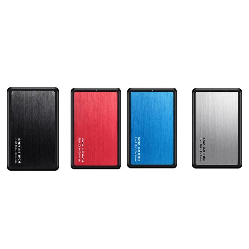 Carcasa de disco duro portátil, de 2,5 pulgadas, USB 3,0 a SATA HDD SSD, aleación de aluminio de 5Gbps, carcasa 2TB de alta velocidad, USB 3,0 Funda de disco duro