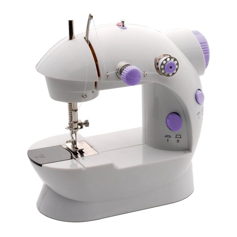 Control de velocidad de 110V, Mini luz para máquina de coser eléctrica del hogar, máquina de coser manual con máquina de coser de mesa extendida