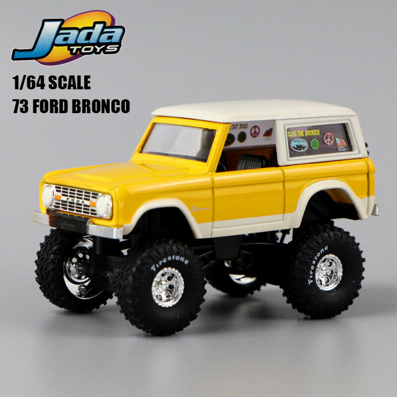 1:64 SCALE  JADA  TOYS  HIGH PROFILE  73 FORD BRONCO  RARE  COLLECTION