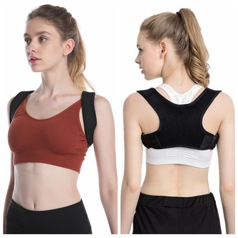 Hombres Mujeres Corrector de postura soporte de espalda vendaje de hombro para espalda ortopedia postura de la columna vertebral Corrector de alivio de dolor de espalda cinturones